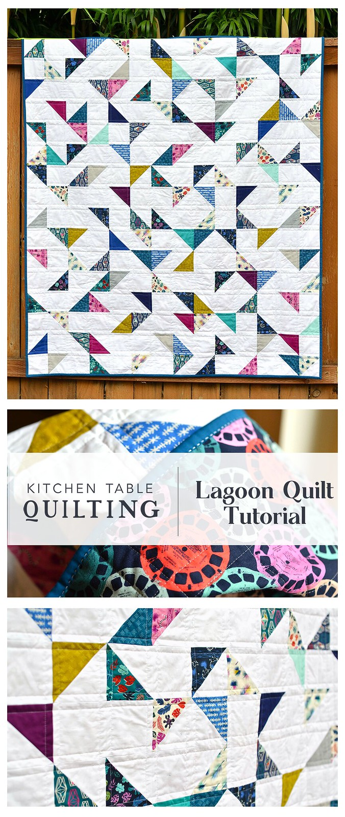Lagoon HST Quilt Tutorial - Kitchen Table Quilting
