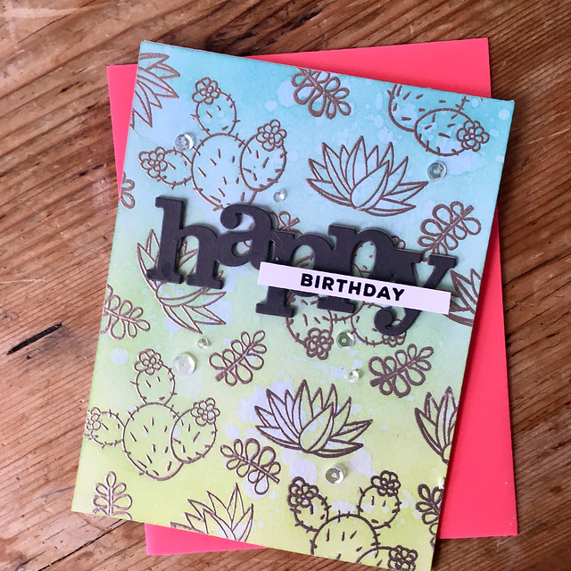 Birthday succulent card