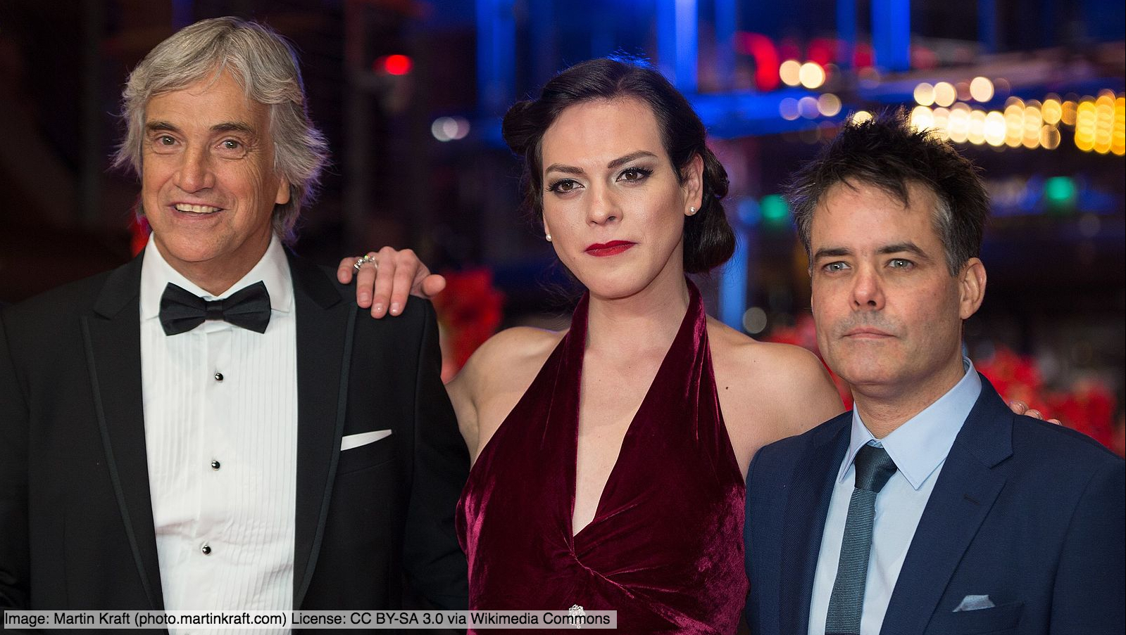 Daniela Vega, Francisco Reyes and Sebastián Lelio (Image: Martin Kraft (photo.martinkraft.com) License: CC BY-SA 3.0 via Wikimedia Commons)