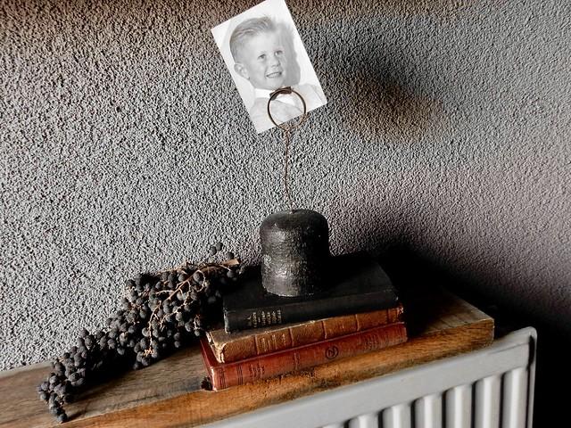 Oude boekjes, fotohouder