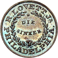 1859 Robert Lovett Die Sinker Token reverse