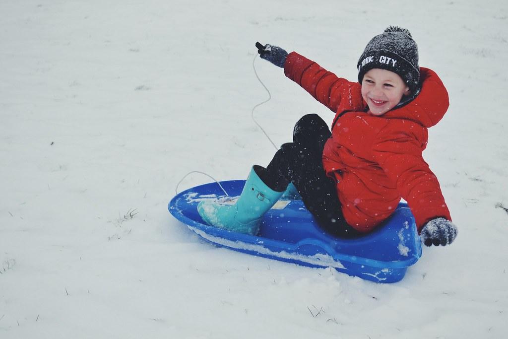 Sledding M Snow Day