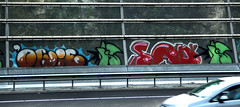 graffiti along the highway