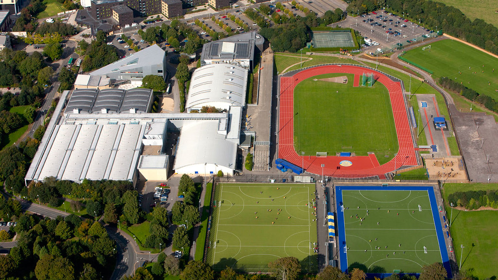 Aerial view of the sports training village