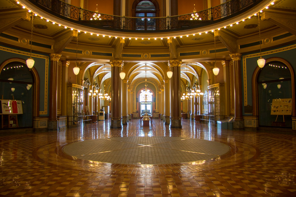 Inside the Rotunda at the Iowa Capitol Building