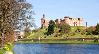 Inverness Castle, (Sheriff Court) on a Spring day