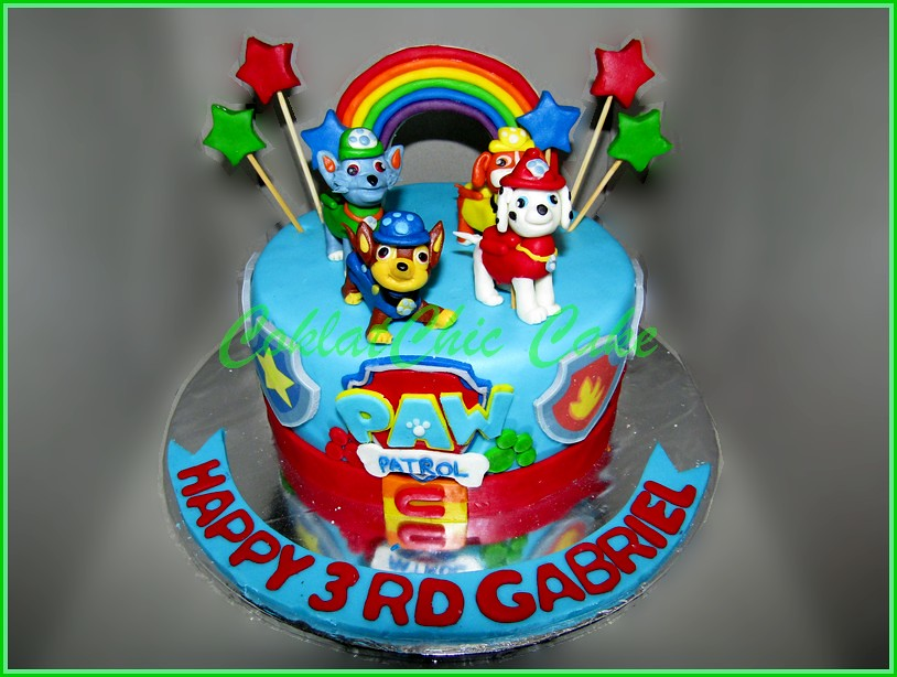 Cake Paw Patrol GABRIEL 15 cm