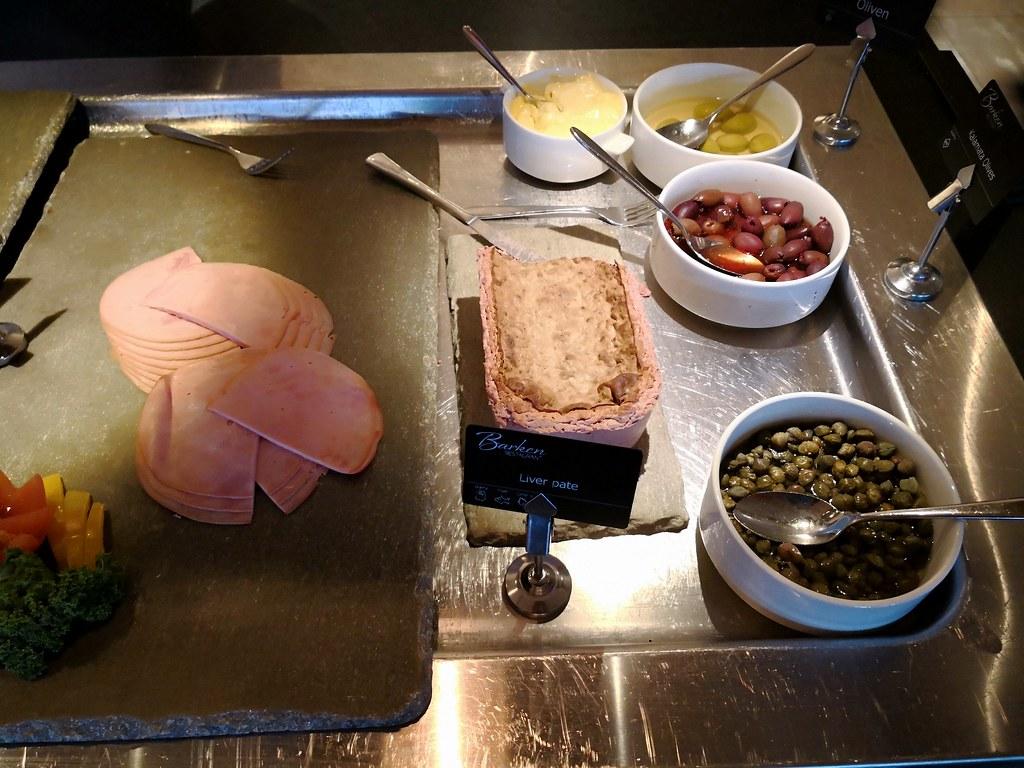 Ham and liver pate