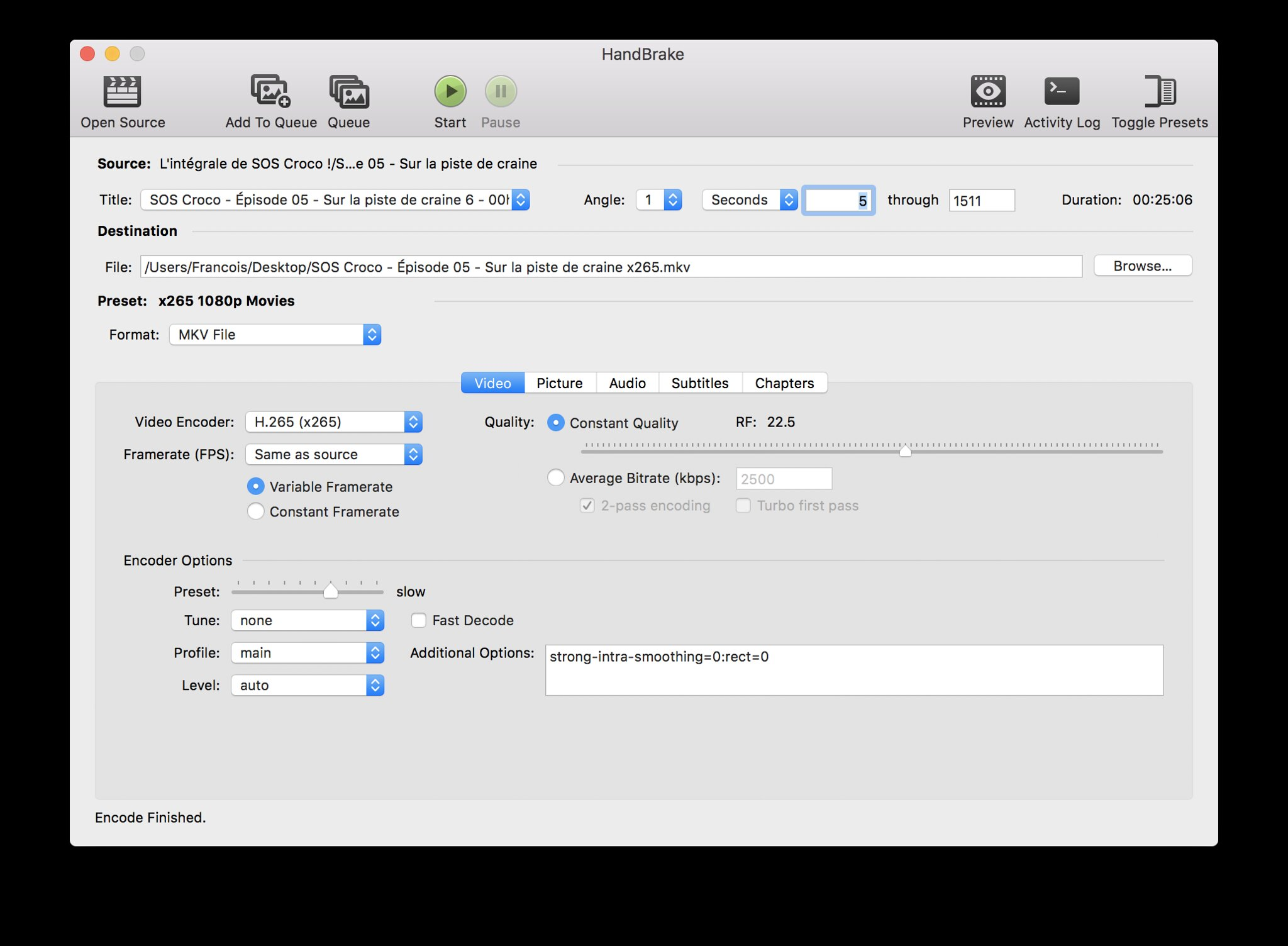 Encoding Your Videos in H 265/x265/HEVC to Save Disk Space – Francis