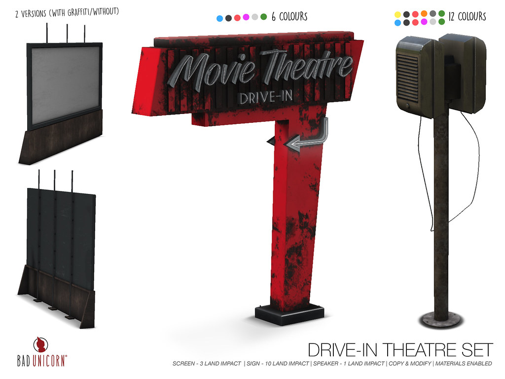 NEW! Drive-in Theatre @ FaMESHed - TeleportHub.com Live!