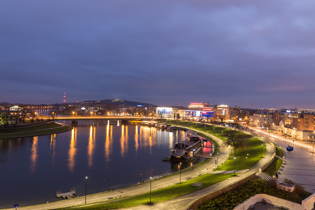 Krakow at blue hour