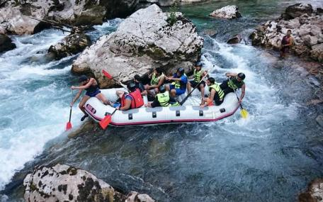 Rafting on the Neretva river only one