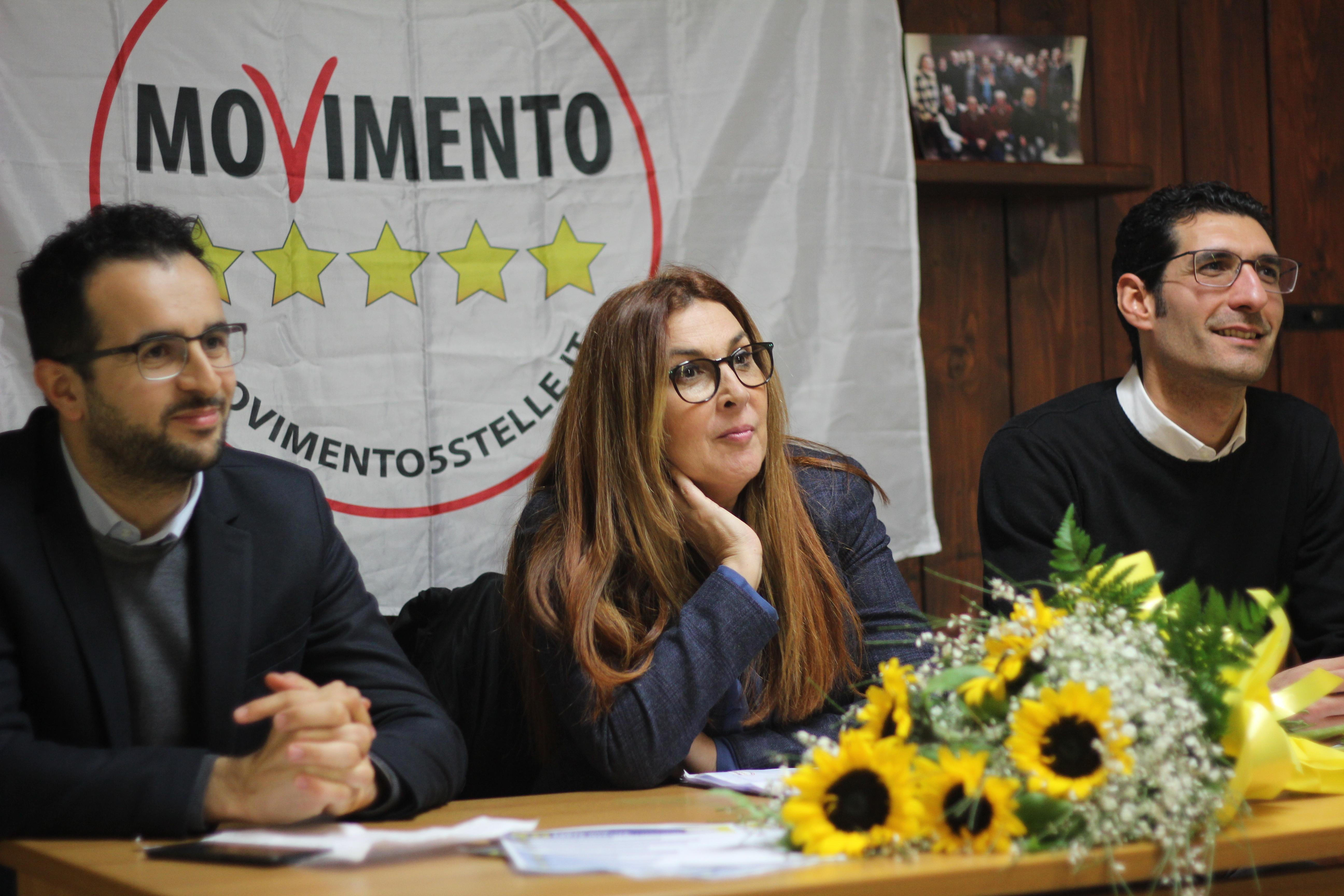 Da sinistra, Emanuele Scagliusi, Patty L'Abbate e Giuseppe L'Abbate
