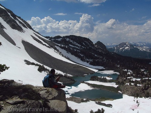 Looking down on Barney Lake from an outcrop near the Duck Pass Trail, Inyo National Forest, California