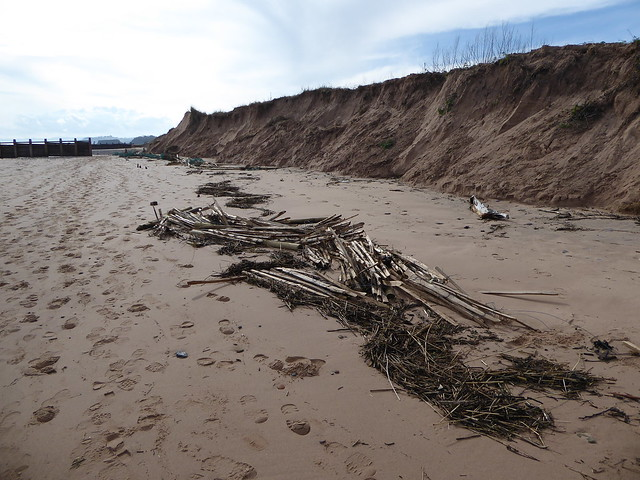 Dune fences destroyed at Dawlish Warren