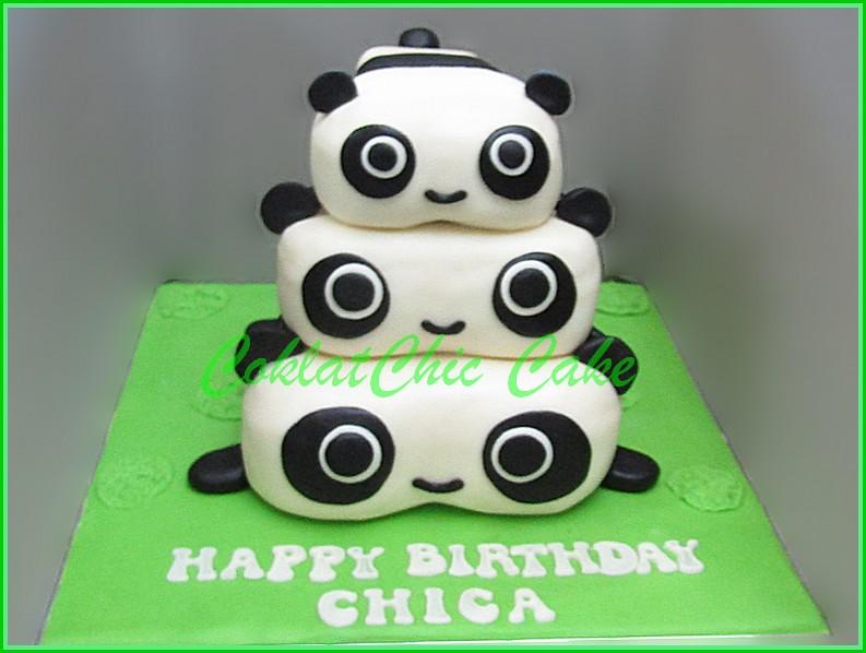 Cake Panda CHICA 18 cm + 15 cm + 12 cm