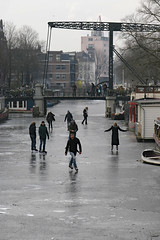 Schaatsen op de Brouwersgracht