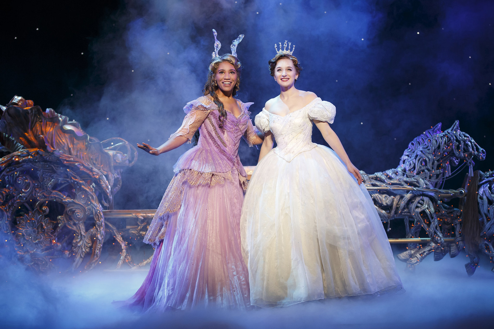Leslie Jackson and Tatyana Lubov in Rodgers + Hammerstein's Cinderella // Broadway In Detroit: Rodgers + Hammerstein's Cinderella At The Fisher Theatre | via Wading in Big Shoes