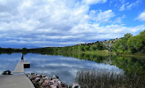 lathropstatepark walsenburgcolorado walsenburg colorado lake horseshoe horse shoe clouds reflection reflections autumn coloradoparkswildlife lathrop statepark mountains pier boatramp fishing pathscaminhos