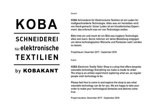 KOBA shop sign