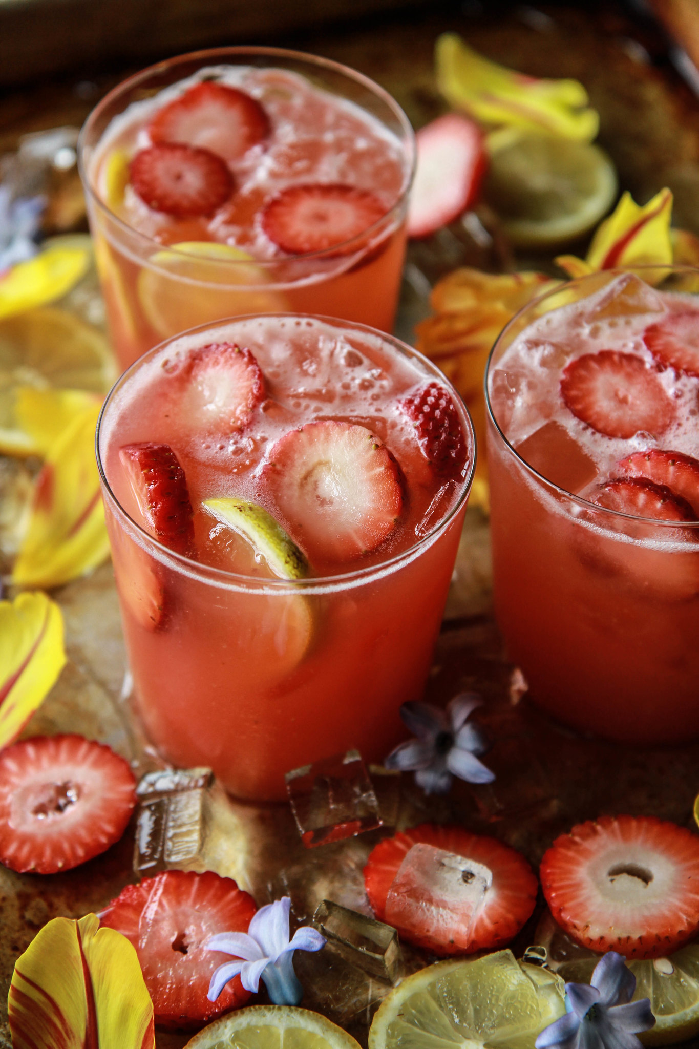 Strawberry Vodka Lemonade from HeatherChristo.com