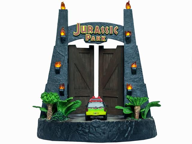 「那裡面難道有金剛嗎?」Factory Entertainment《侏羅紀公園》侏羅紀公園大門 Jurassic Park Gates Environment 雕像作品