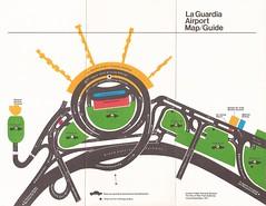 New York LaGuardia Airport (LGA) map/guide - September 1971