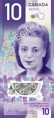 Canada $10 Viola Desmond banknote
