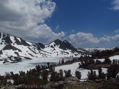 Views across Duck Lake from Duck Pass in Inyo National Forest, California