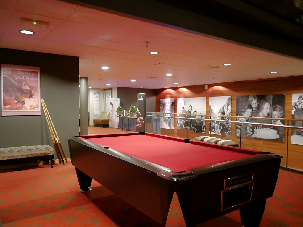 Pool table in the mezzanine