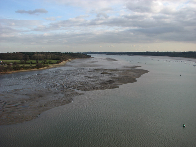 The River Orwell from the Orwell bridge
