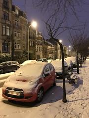 Voitures parquées sous la neige
