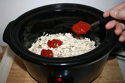 15 - Enchilada-Sauce hinzufügen / Add enchilada sauce