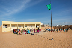 Students in the schoolyard