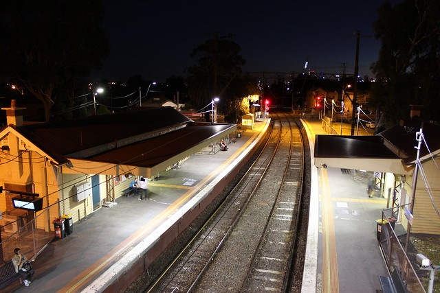 Westgarth Station at night