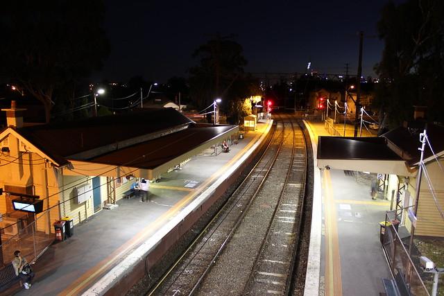 Westgarth Station at night