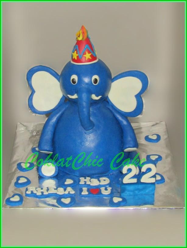 Cake Gajah RHESA 15 cm
