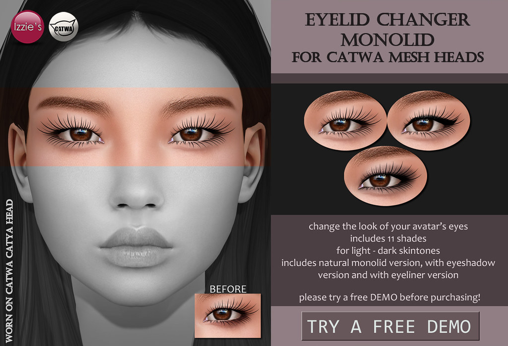 Catwa Eyelid Changer Monolid (Skin Fair) - TeleportHub.com Live!