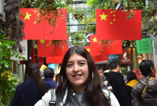 Elizabeth Gonzales '19 on CIEE Shanghai approved program fall 2017 3