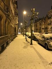 Trottoir sous la neige