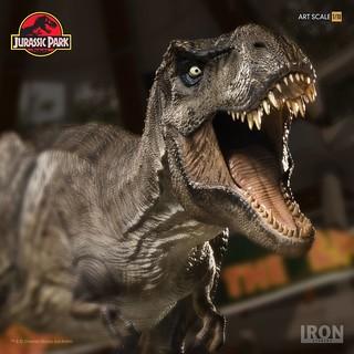 食物鏈頂端的王者霸氣展露無遺!! Iron Studios《侏羅紀公園》霸王龍 T-Rex 1/10 比例全身雕像作品