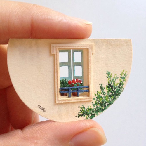Illustrated Miniature Parisian Papercut Scene