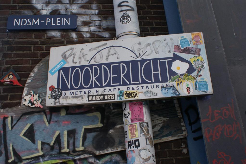 En direction du Noorderlicht à Amsterdam - NDSM.