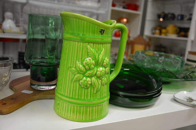 On the Green Shelf at the Swedish Thrift Store by iHanna #studioihanna