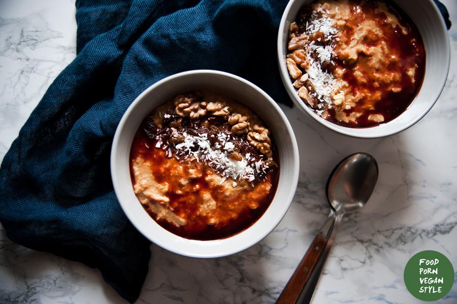 Carrot cake oatmeal / Owsianka marchewkowa