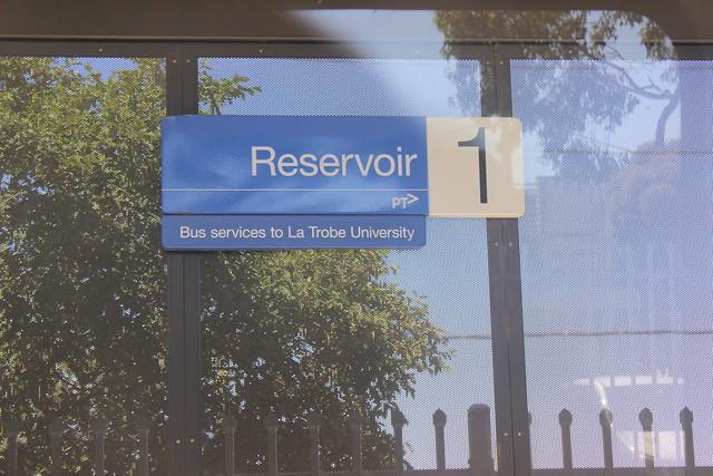 Reservoir Station platform sign