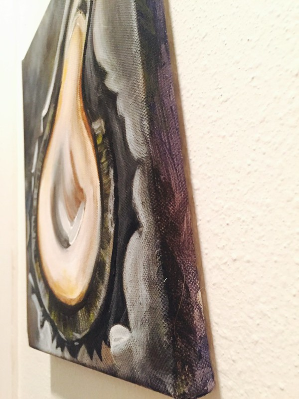 Rebecca Pons, BECCA PONS + CREATIVE, Acrylic, fine art, OYSTER small, Louisamystery, Abstract