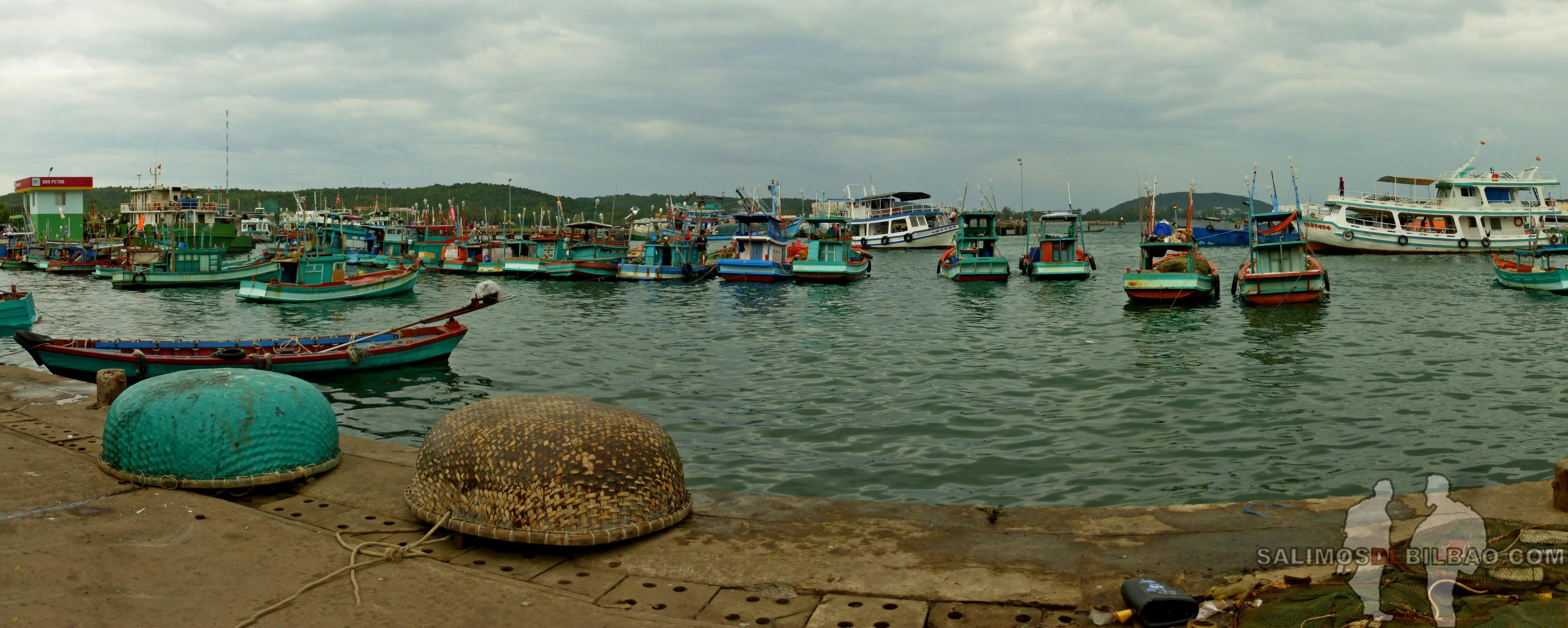 0113. Pano, Puerto en el sur de la isla, Phu Quoc