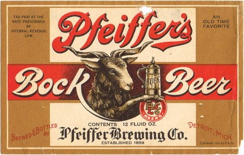 Pfeiffer-Bock-Beer--Labels-Pfeiffer-Brewing-Company