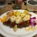 French toast with tropical fruist & whipped cream & honey